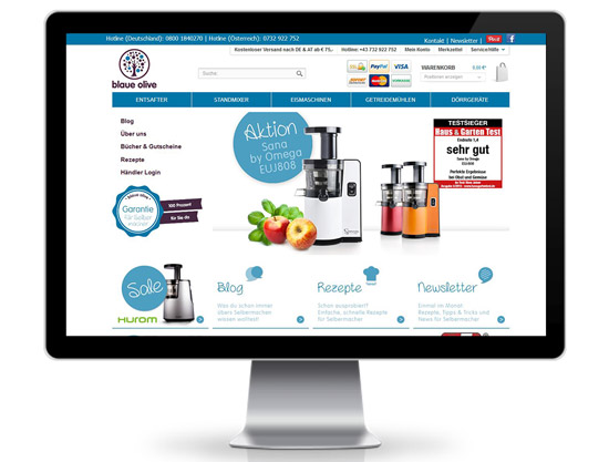 Blaue Olive Shopware Webshop