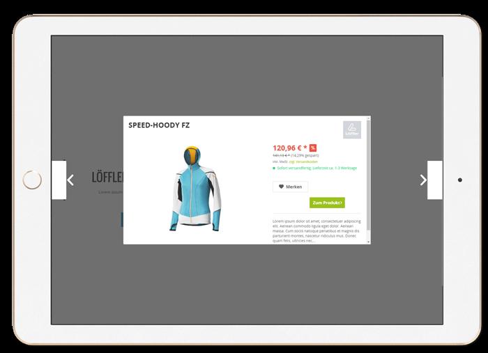 Shopware - Quickview, mit Shopware 5 bleibt Ihr Kunde während seines Besuchs in der Einkaufswelt und damit in einem emotionalen, inspirierenden Shopping-Erlebnis.