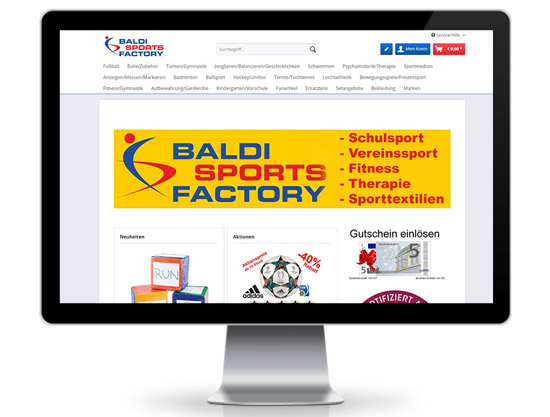 Baldi Sports Factory Shopware Webshop
